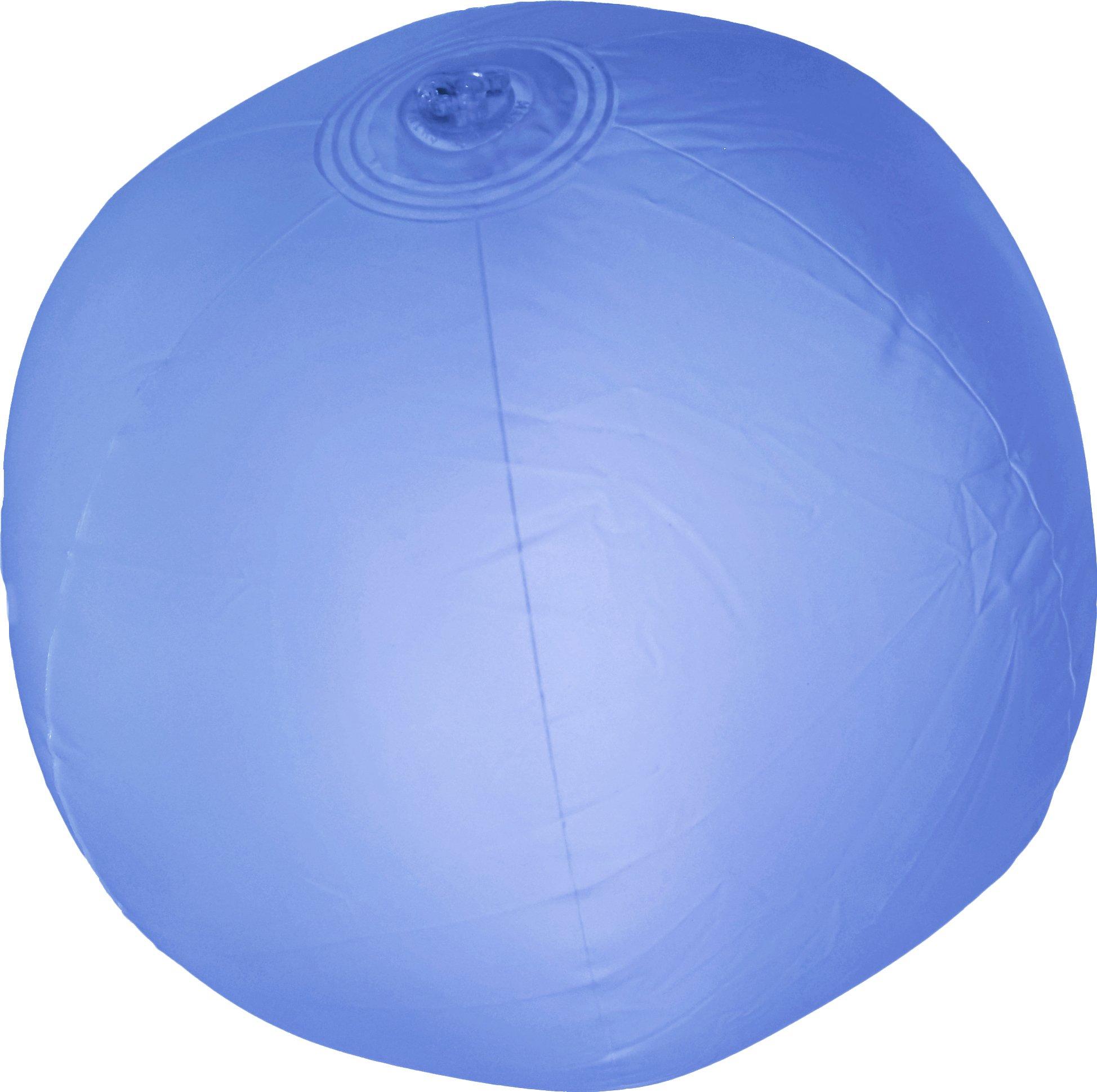 Fun Central AK046 Glow in the Dark Beach Ball- Blue