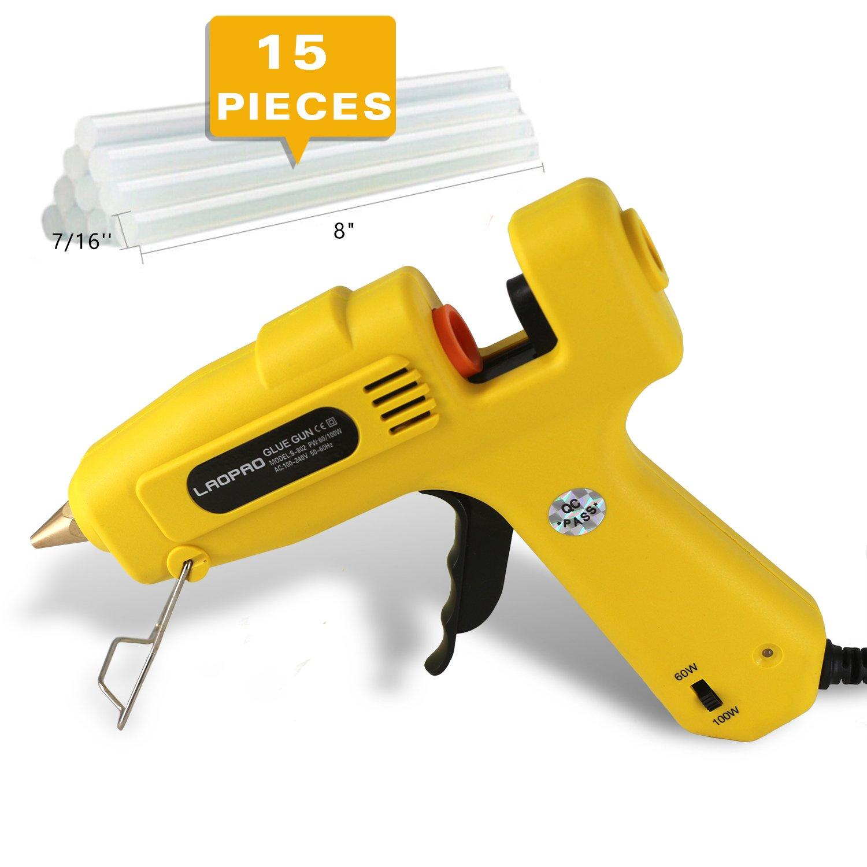 Hot 100W Glue Gun for Industrial Home High Temperature with 15 Pcs Glue Sticks