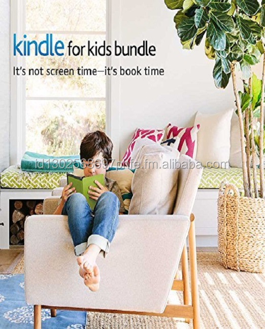 Kindle for Kids Bundle with the latest Kindle E-reader, 2-Year Worry-Free Guarantee, Green Cover