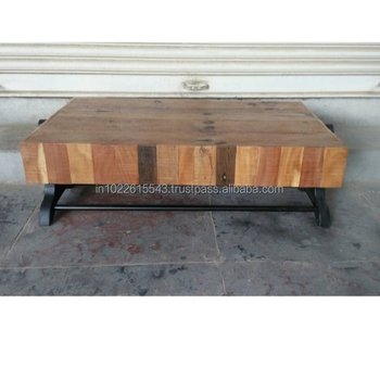 Awe Inspiring Industrial Wooden Block Top Coffee Table Vintage Iron Mango Wood Low Coffee Table View Square Wood Coffee Table Garud Enterprises Product Details Ncnpc Chair Design For Home Ncnpcorg