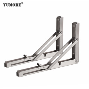 Factory stainless steel pull down shelf hardware fold away table shelf brackets made in China 12''