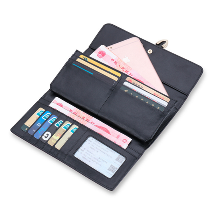 2018 High Quality Euro America Long Design Genuine Leather Wallet Women Ladies Purse With Card Holder Clutch Bag