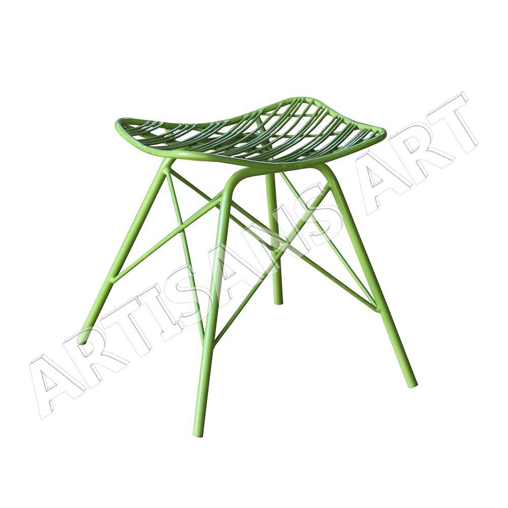Mediados De Siglo Vintage Metal R Plica Alambre Silla Muebles De  # Muebles Artesanales Casa Muar