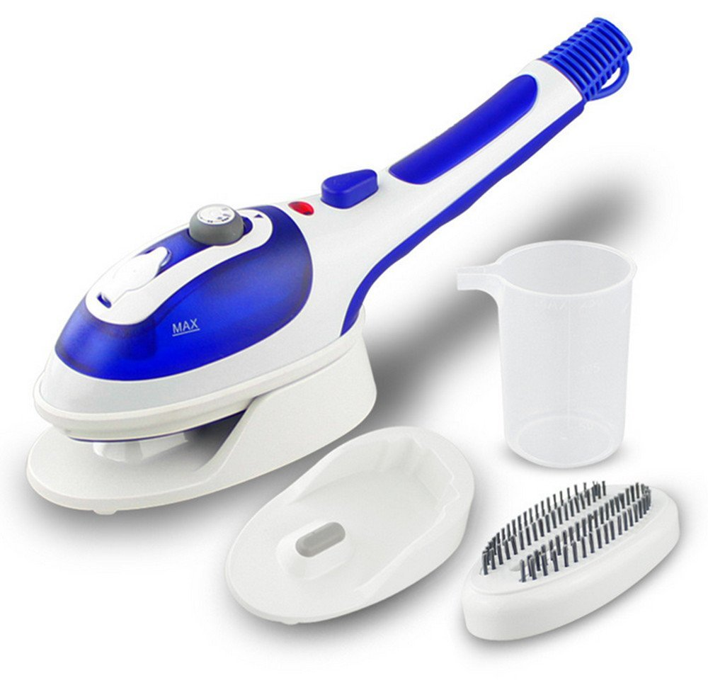 Hand-held Steam Flat Hot Hanging Hot Two-in-one Portable Steam Iron Brush Multi-function Iron Cleaning Cured Taste(Blue)