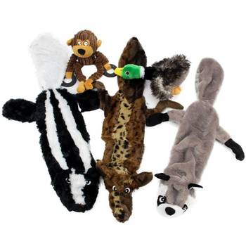 5 pcs Wholesale Customized Animal Squeaky Pet Bite Stuffed Plush Soft Chew Toys for Dogs