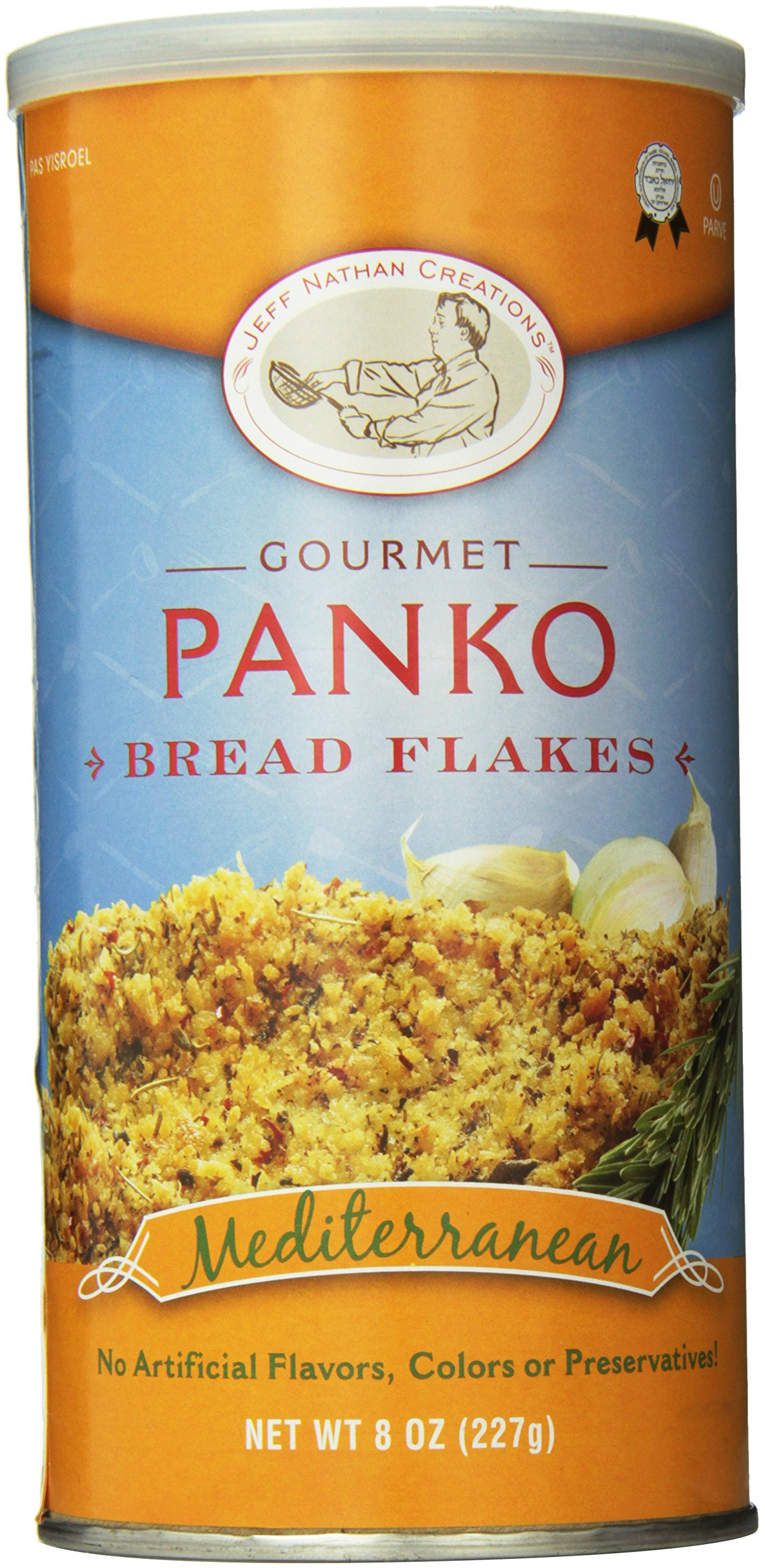 Jeff Nathan Creations Chef Gourmet Panko Bread Flakes Italian Blend, 8 Ounce