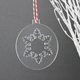 Acrylic Engraving Christmas Ornaments Acrylic Christmas Tree Decorations in Various Colours - Bauble