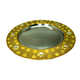 Newly Design Tableware Embossed Charger Metal Plate