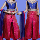 Silk embroidery heavy stone work churidar ladies party suits