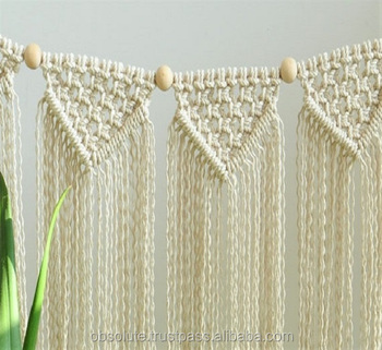 Hand Knotted Organic Cotton Rope Macrame Bunting Home Decor Garland