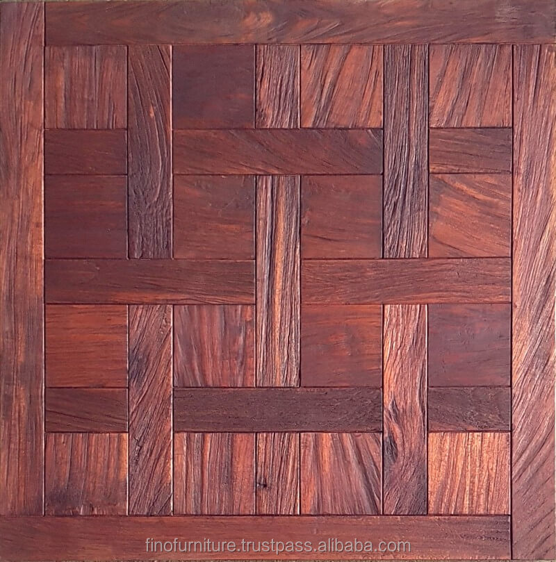 Chantilly Teak Root Wood Parquet Flooring Color