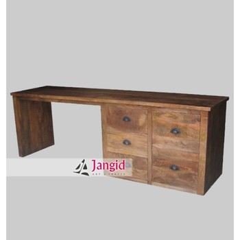 Ordinaire Indian Wooden Mango Wood Big Office Reception Executive Computer Table Desk  Furniture   Buy Office Reception Table,Executive Table Desk,Big Furniture  ...