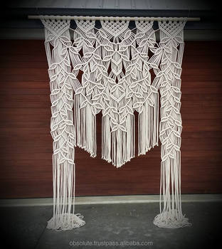 Genial Cotton Macrame Rope Door Curtains
