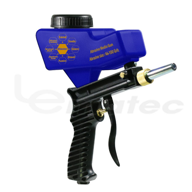 LEMATEC Gravity Feed Portable Sandblasting <strong>Gun</strong> for remove spot rust with extra tips Spray <strong>gun</strong> Sandblaster