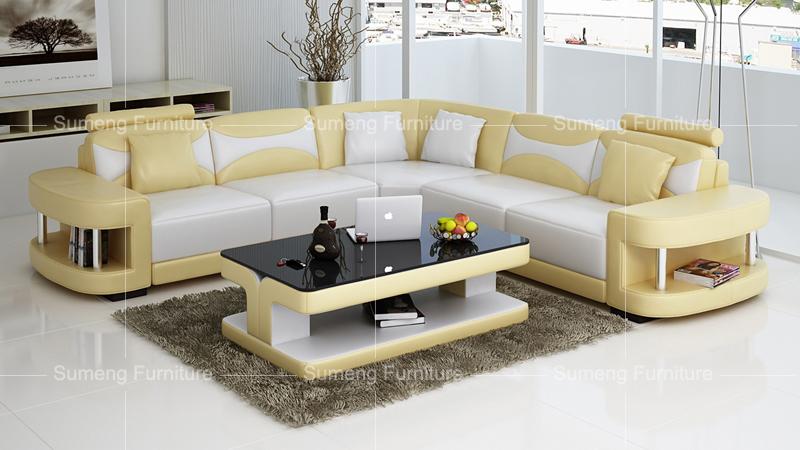 Victorian Style Living Room Furniture Leather Corner Sofa Bed Set Design