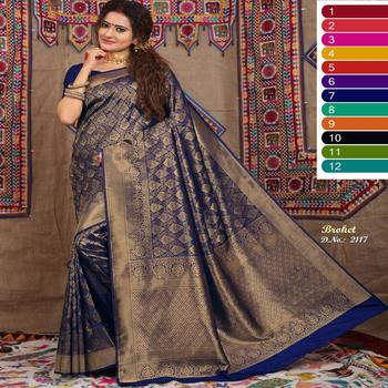 Latest indian designer fancy silk saree for women / traditional wholesale party wear silk saree in india