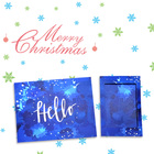 Home deco greeting visiting card with color print