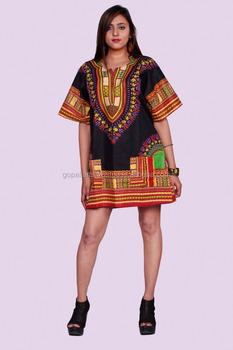0917a5a7a2 Indian African Shirt Dashiki Print Hippie Top Blouse Tribal Onesize Woman  Man Indian