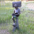 Hot Selling Classic Garden Decoration Bronze Boy Mailbox Statue