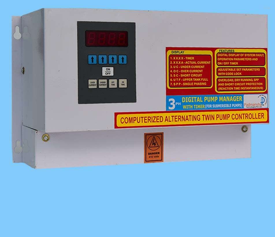 Three Phase Economy Twin Pump borewell Control Panel