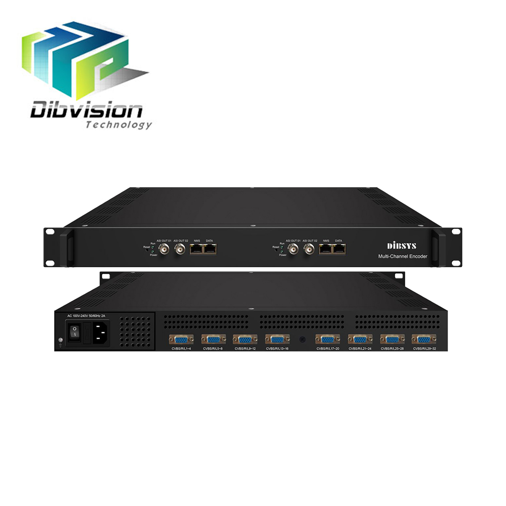 1ru Classis 2 Av Encoding Mpg4 H.264 IPTV Video Encoder untuk IP ASI Output