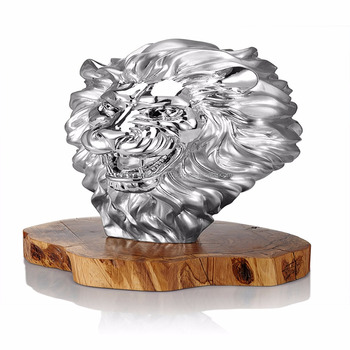 Furious Pride Silver Figurine Lion Head Home Decor