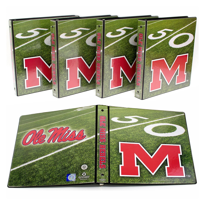 "NCAA Ole Miss Rebels 1"" College Round 3-Ring Binders, 4 pack"