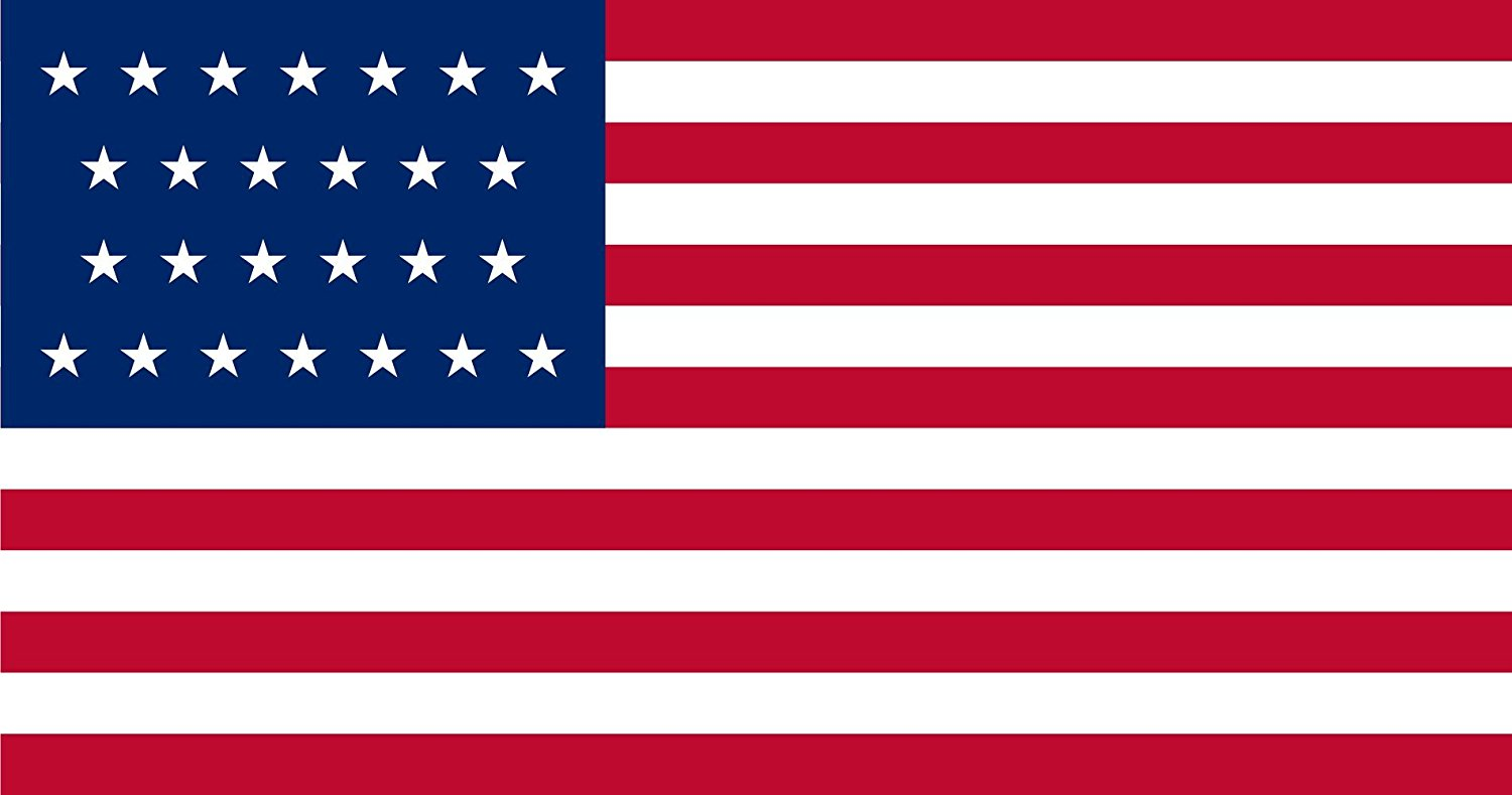 magFlags Large Flag United States 1837-1845   US Flag with 26 stars   landscape flag   1.35qm   14.5sqft -- 100% Made in Germany -- long lasting outdoor flag