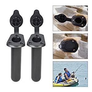 2 PCS Semicircular MOUNT BASE for Kayak Boat Fishing Side Rail Mount Rod Holder