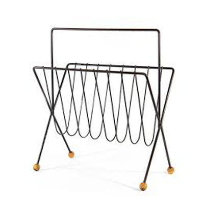 Metalen Draad Magazine Holder Krant Caddy Rack