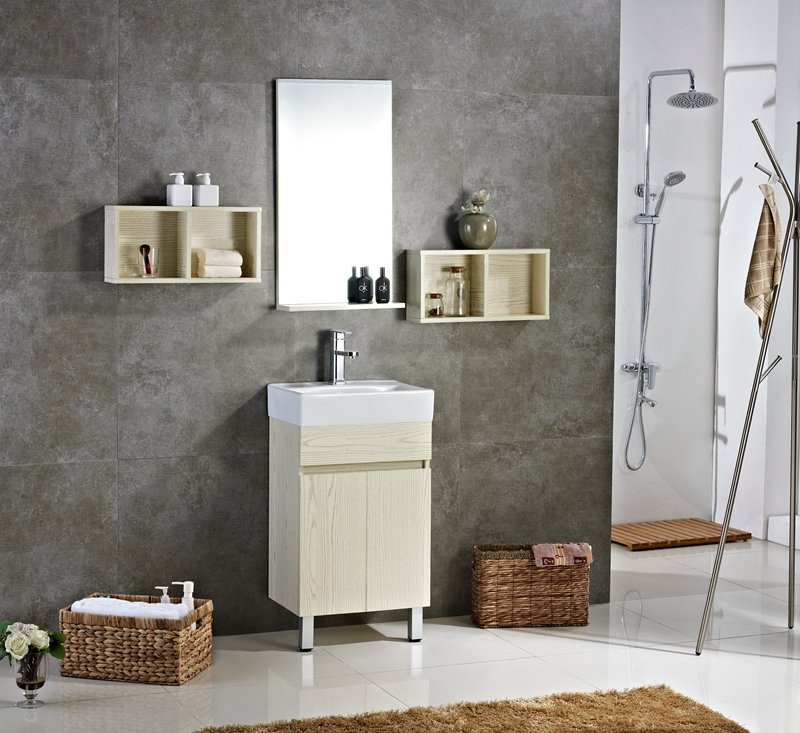 hot online selling eco-friendly lacquer hotel corner long mirror vanity with side cabinet