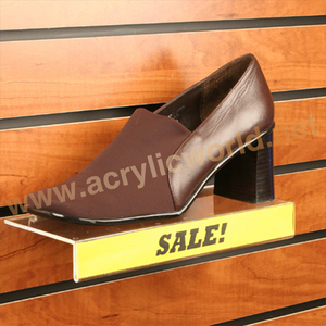 Acrylic Slatwall Shoe Wall Display, Acrylic Slatwall Shoe Wall Mount Acrylic Shoe Display Shelves, Wall Mount Shelf