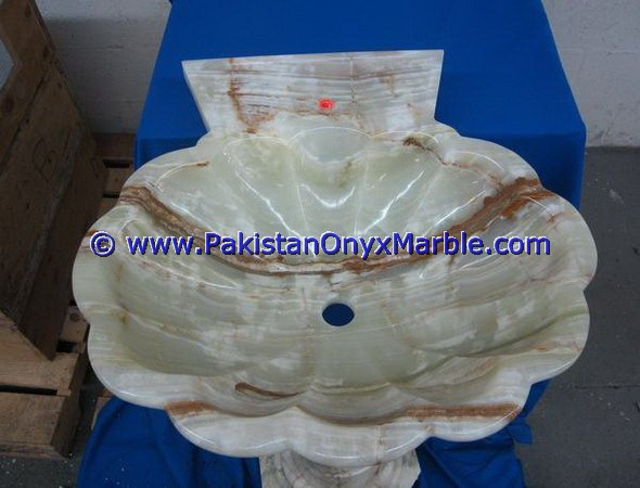 WHOLESALE ONYX PEDESTALS SINKS BASINS LIGHT GREEN ONYX