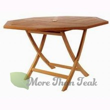 OCTAGONAL FOLDING TABLE teak from Jepara Indonesia for Garden/Outdoor furniture