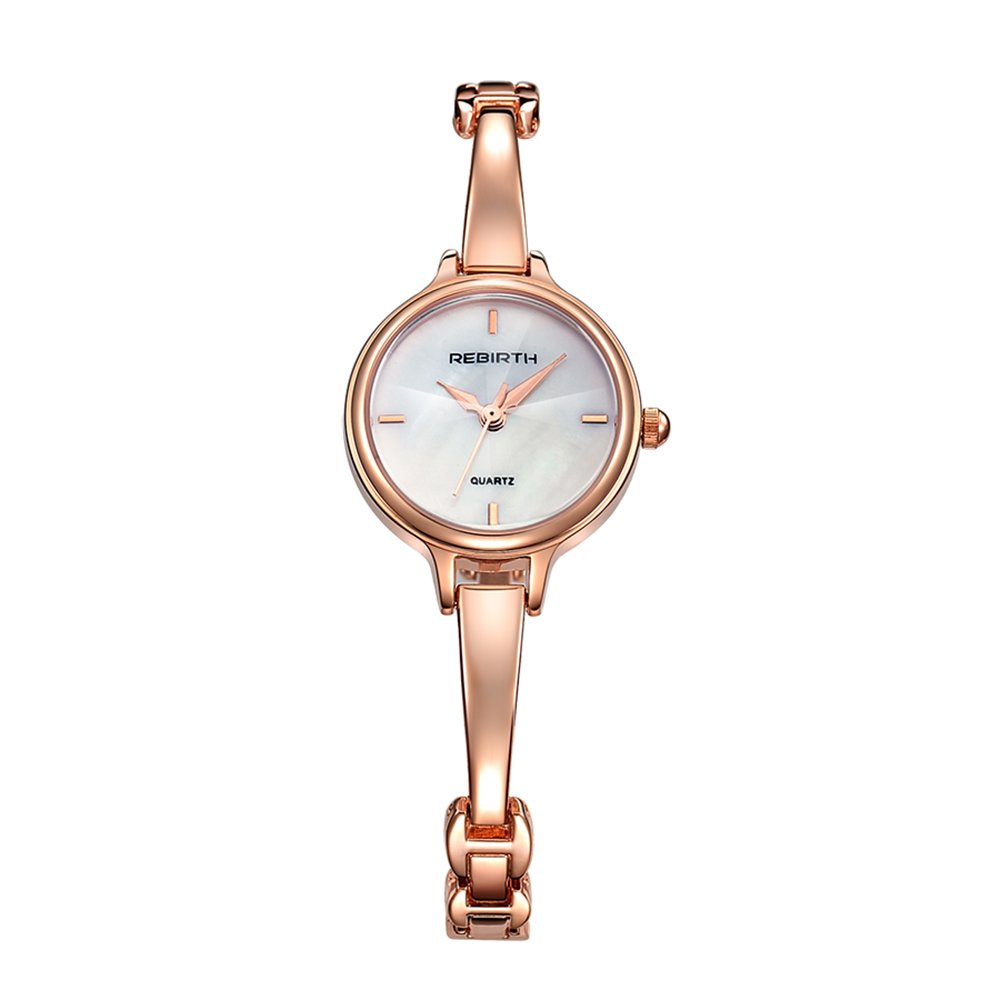 Bosymart Women's Analog Quartz Elegant Rose Gold Luxury Dress Bracelet Wrist Watch
