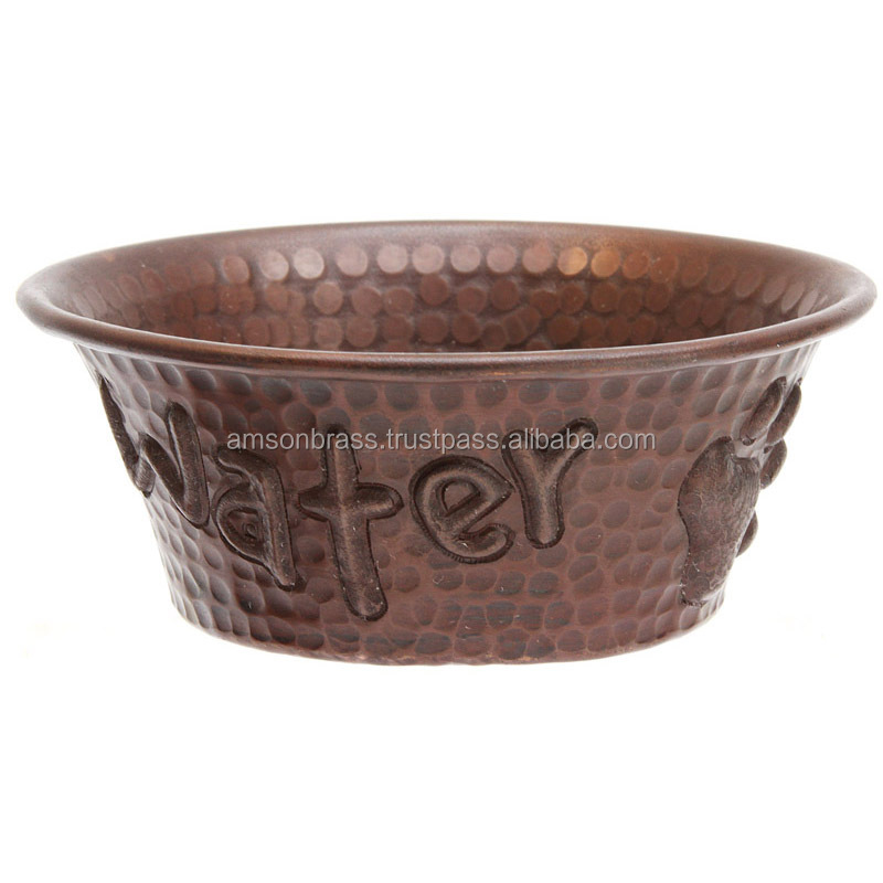 Copper Made Water Bowl For Pets