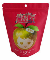 stand up zip lock pouch food grade packaging, aluminium foil plastic bag with zipper on top, standing zipper pouch for dry plum