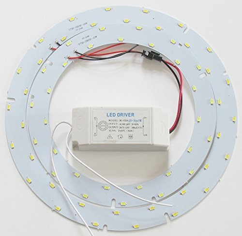 33w Led Ceiling Light Fixtures Retrofit Board Replacement Panel Ledy 9.84 inch 3630lm Light Bulb Replace Incandescent Fluorescent Bulb Round Tube (Warm White)