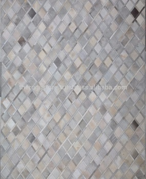 Handmade Cowhide Leather Silver M Trs Ch D4 Rugs And Carpets Buy