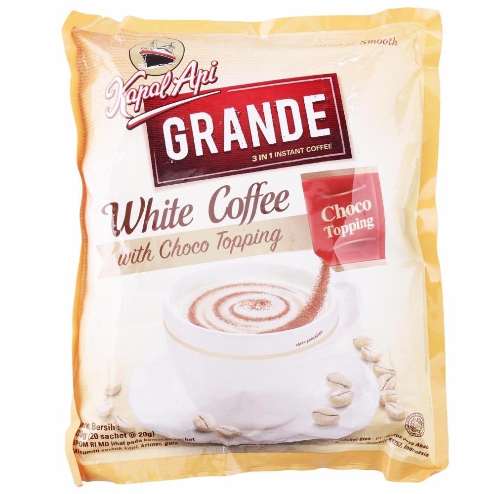 Kapal Api Grande Kopi Bag 20 Sachet Gram Daftar Harga Terbaru Tcash Vaganza 29 Super 250 White Coffee With Choco Topping Ct400 Buy