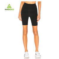 High quality 4 needles 6 threads sports cycling leggings Custom design cationic sports cropped leggings