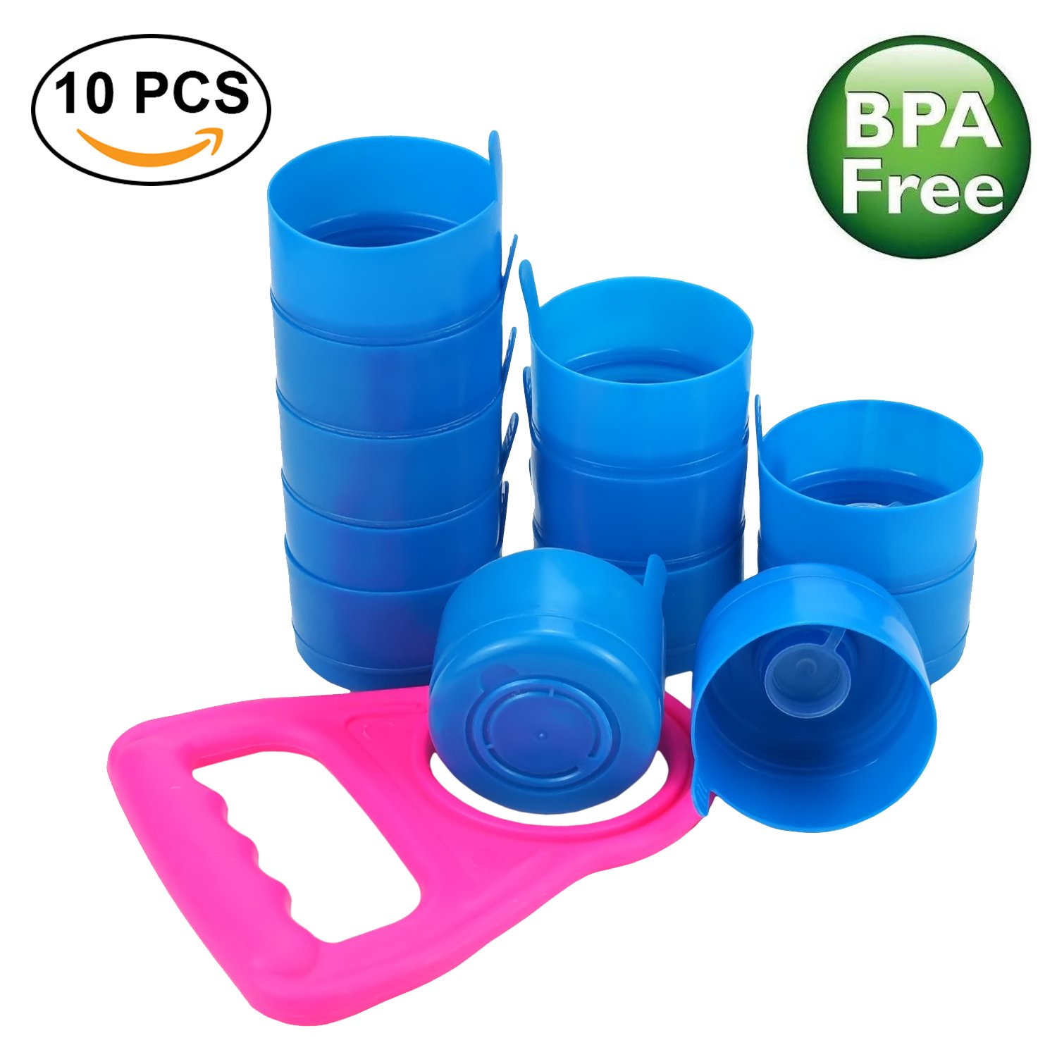 3255baa992 Get Quotations · Non Spill Cap Anti Splash Bottle Caps Reusable for 55mm 3  and 5 Gallon Water Jugs