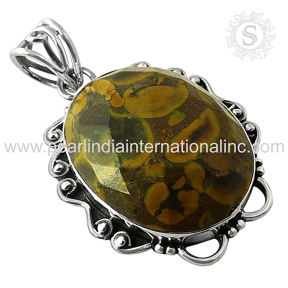 chiness writing stone silver jewelry 925 sterling silver gemstone pendants indian silver pendant jewelry wholesaler