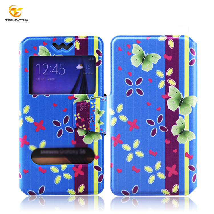 Universal Smart UV Printing Phone Wallet Style Leather Wallet Case