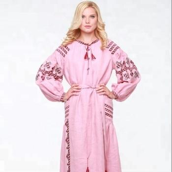 52c5da7ae3 Pink Ukraine Maxi Boho Dress Women Plus Size Summer Dress Clothes For  Ladies Embroidery Dress - Buy Summer Dress For Mature Woman,Summer Dress  For ...