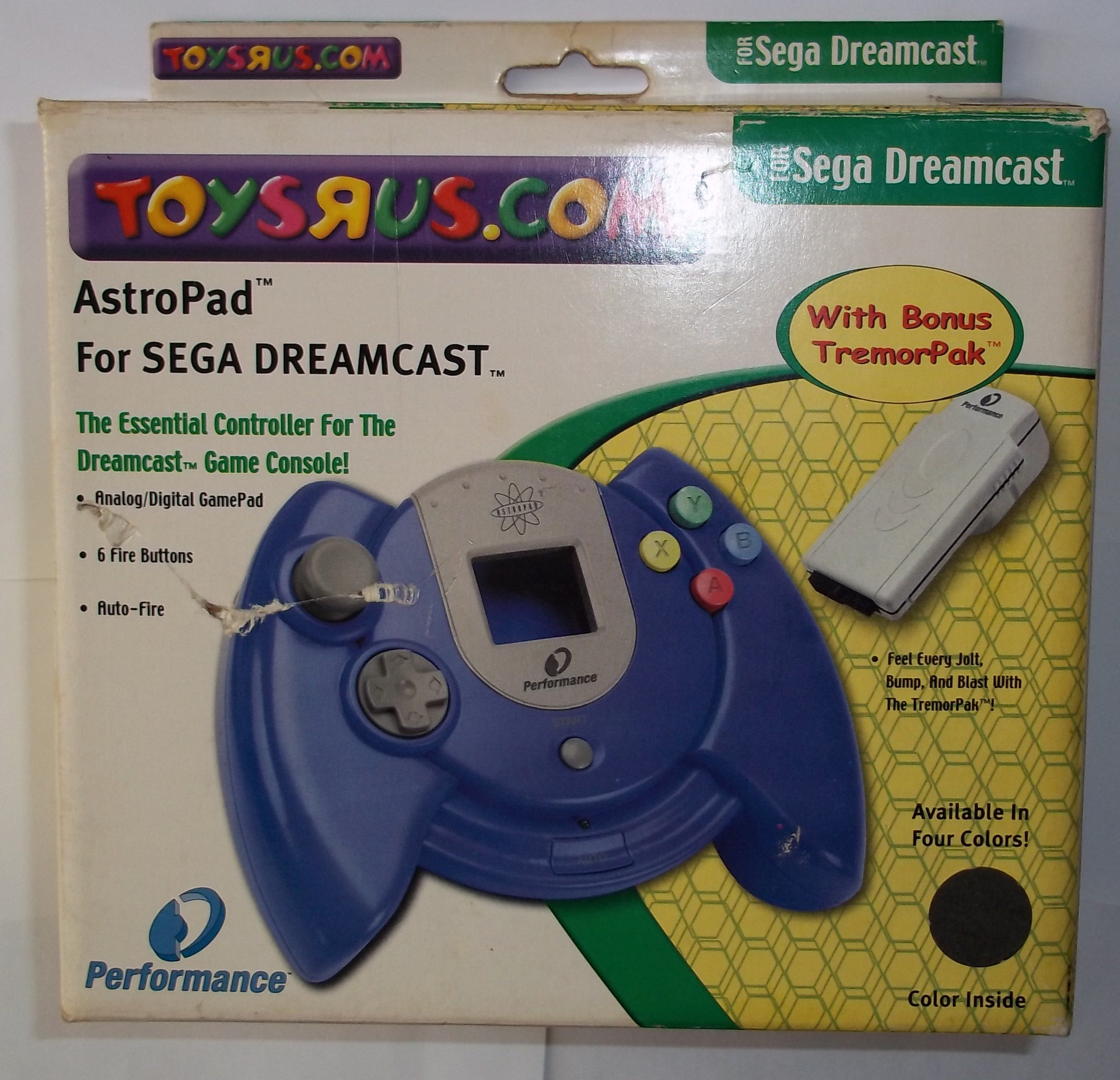 Astro Pad for Sega Dreamcast (Toys R Us edition) with TremorPak - Black