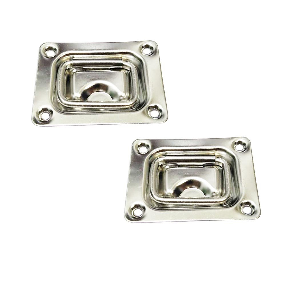 """Flush Mount Hatch Lift Handle/Ring Pull - 304 Stainless Steel - 3"""" x 2-1/4""""(76 x 57 mm) (2 PCs)"""