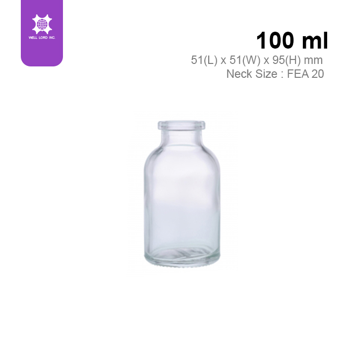 Universal usage transparent glass container 50 ml milk bottle shape