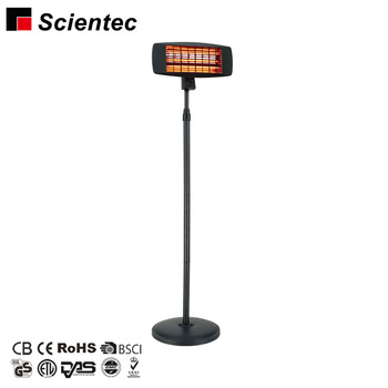 Electric outdoor heating quartz infrared electric patio heater with 3 Power Settings 650W 1300W 2000W