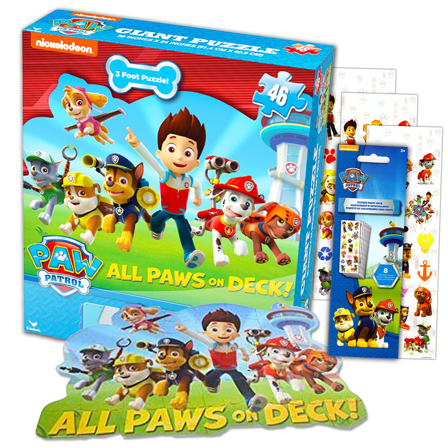 981e2bf9 Buy Paw Patrol Giant Floor Puzzle Set For Kids and Toddlers (3 Foot ...